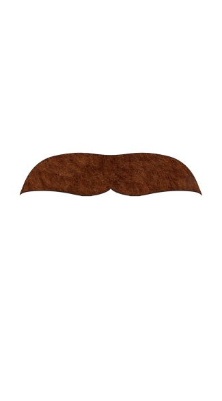 Brown Dick Johnson Mustachio, Fake Brown Mustache