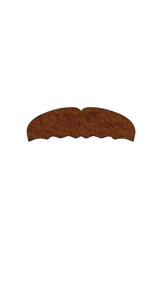 Brown Mounty Mustachio, Brown Thick Mustache, Brown Mounty Mustache
