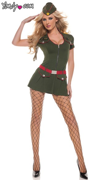 Major Hottie Sexy Halloween Costume, Military Sexy Halloween Costume