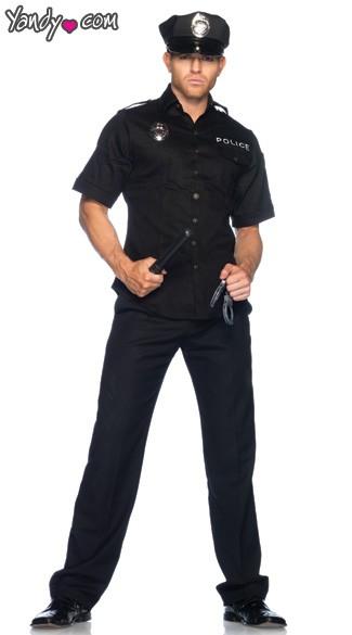 Cop Costume, Men\'s Police Costume, Men\'s Cop Halloween Costume