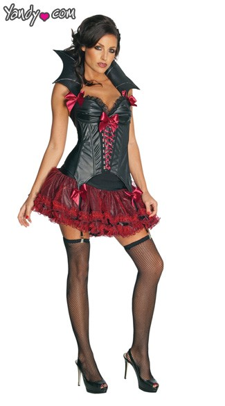 Girl Vampire Costume, Girl Vampire Halloween Costume, Midnight Vampira Costume