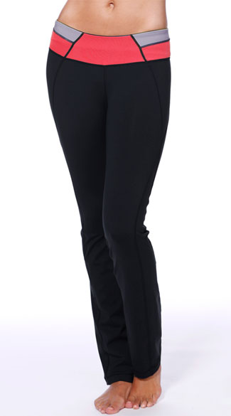 Colorblock Yoga Pants, Black Yoga Pants, Black Gym Pants