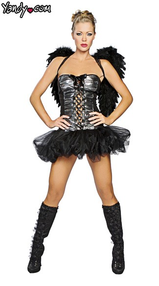 Naughty Dark Angel Costume, Naughty Angel Costume, Dark Angel Halloween Costume
