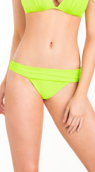 Rolled Top Swim Bottom, Hipster Swim Bottom, Hipster Swimsuit Bottom