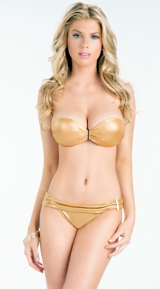 Sweetheart Bandeau Top with Gold Hardware