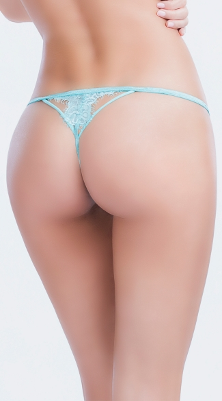 Eyelash Lace Thong