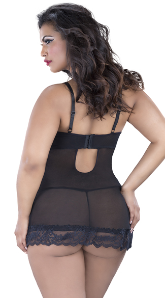 Plus Size Flirty Lace Baby Doll