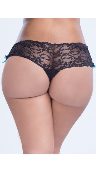 Plus Size Lace-Up Side Panty