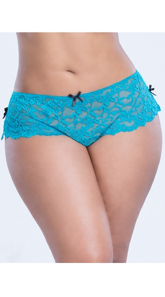 Plus Size Lace Up Boyshort