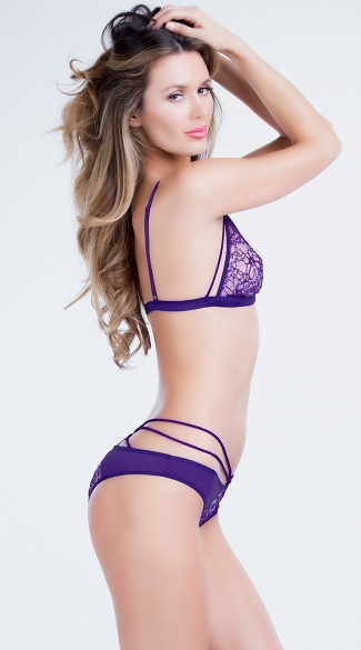 Lace Triangle Bra and Panty