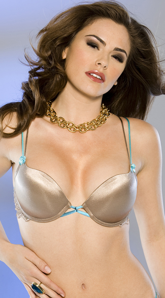 Metallic Gold and Aqua Bra