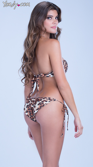 Leopard Bandeau Swim Top