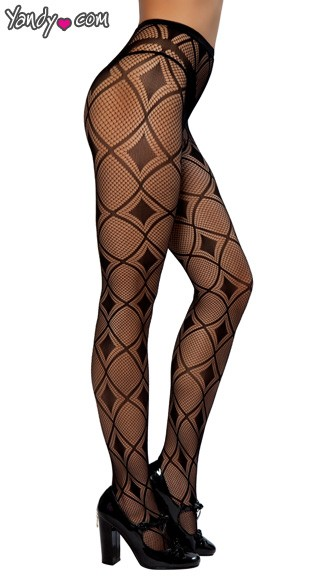 Diamond Print Pantyhose