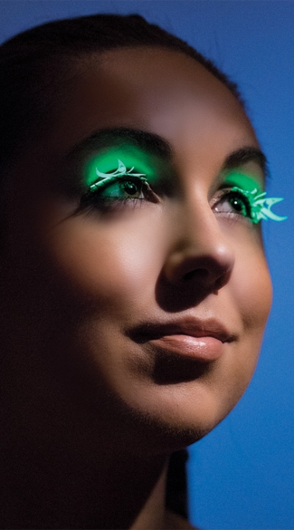 Glow In The Dark Butterfly Eyelashes, Butterfly Shaped Eye Lashes, Butterfly Lashes, Neon Lashes
