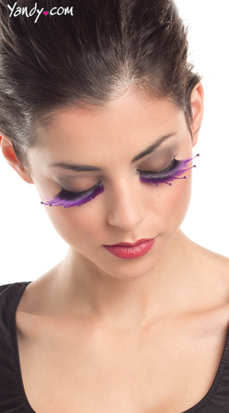 Colorful Purple Layered Eyelashes
