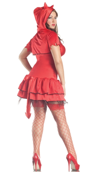 Plus Size Shaper Deluxe Devil Costume