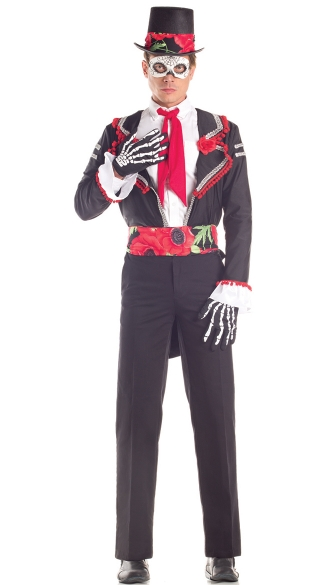 Men\'s Day Of The Dead Costume