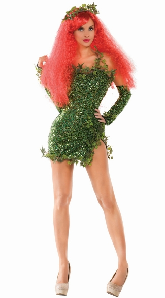 Poisonous Villain Costume, Womens Ivy Costume, Ivy Superhero Costume, Ivy Villain Costume
