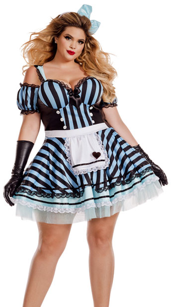 Plus Size Lost In Wonderland Costume, plus size Alice Costume - yandy.com