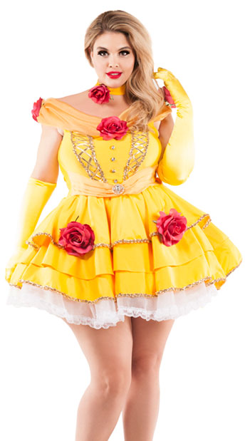 Plus Size Belle Of The Ball Costume, plus size Yellow Princess Costume - Yandy.com