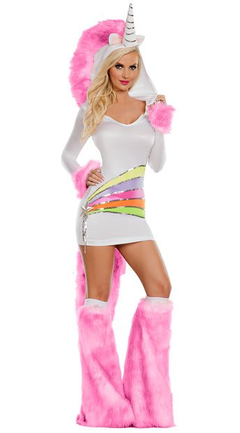Rainbow Unicorn Costume, Magic Unicorn Costume - Yandy.com