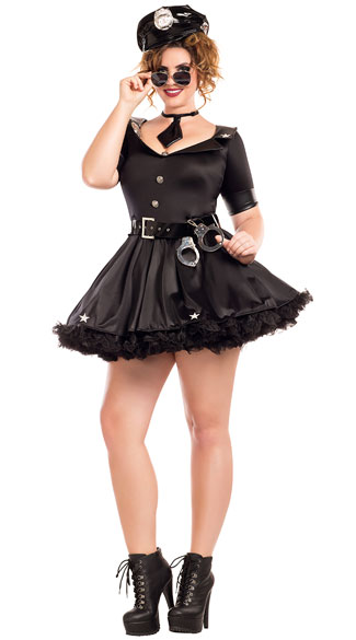 Plus Size Cuff Me Honey Costume, plus size sexy cuff me honey costume, plus size police costume, plus size sexy police costume, plus size police officer costume, plus size sexy police officer costume, plus size cop costume, plus size sexy cop costume
