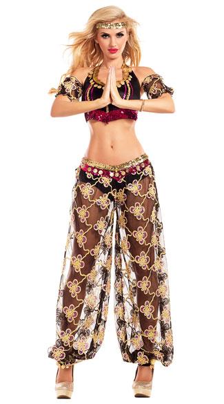 Harem Slave Costume for Women, Sexy Bedroom Costume