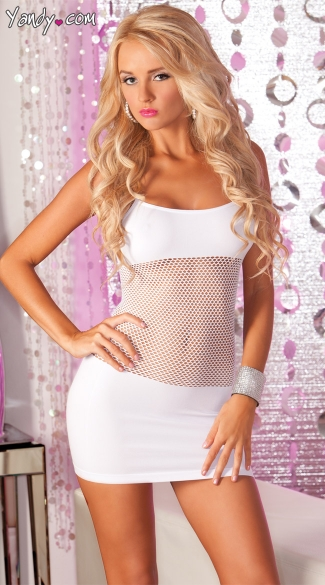 Fishnet Torso Seamless Mini Dress