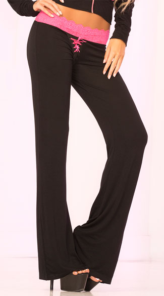 Lace Trim Lounge Pant, Clothing For Women, Sleepwear For Women