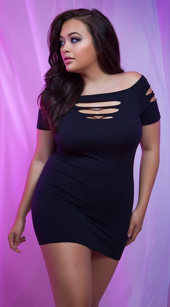 Plus Size Cut It Out Seamless Mini Dress