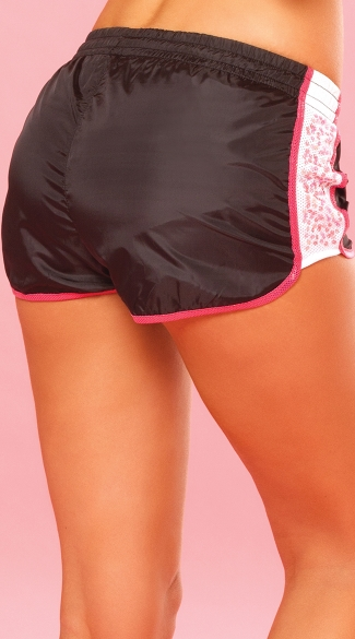 Sequin Sparkle Running Shorts