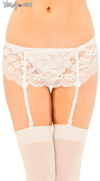 Lace Garter Belt And Panty Set
