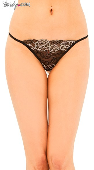 Stretch Mesh G String, Patterned G String, Stretch Lace G String