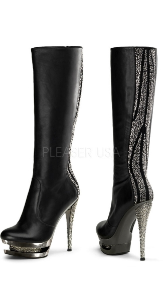 "6"" Stiletto Heel, 1 1/2\"" Dual Pf Knee Boot"