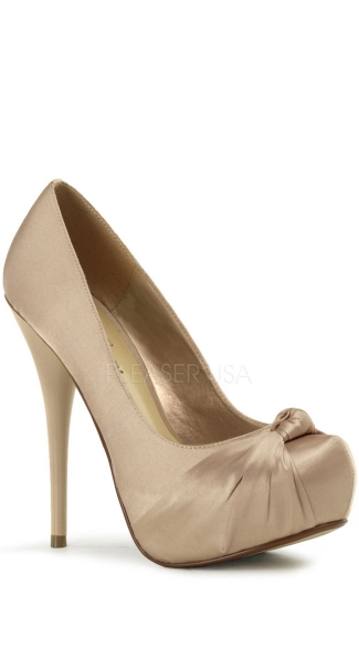 5 1/4 Inch Stiletto Heel, 1 1/4 Inch Hidden Pf Knotted Pump