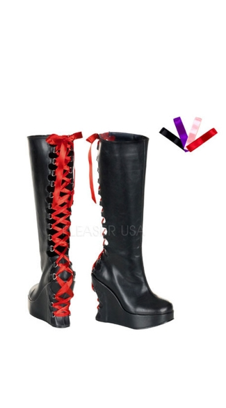 Corset Style Goth Boots