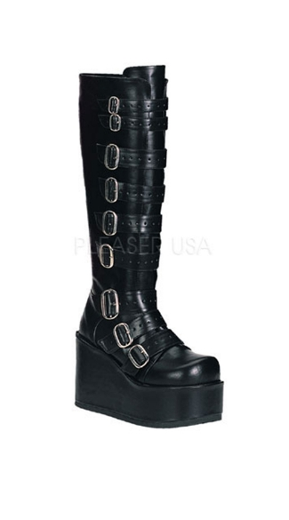 Goth Punk Buckled Gogo Boot