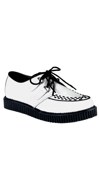 Mens 1 Inch Platform Gothic Rockabilly Punk Leather Creeper