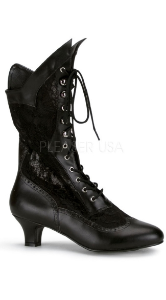 Lace Victorian Ankle Boot, Victorian Style Boots, Victorian Lace Up Boots
