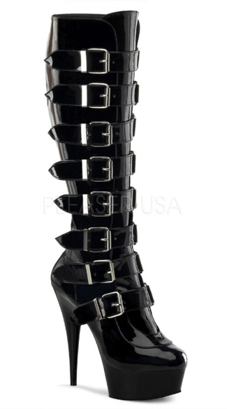 "6"" Buckled Pf Knee Bt, Side Zip"