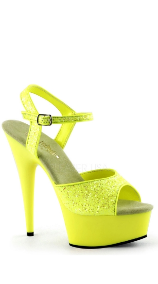 6 Inch Heel, 1 3/4 Inch Pf Ankle Strap Sandal