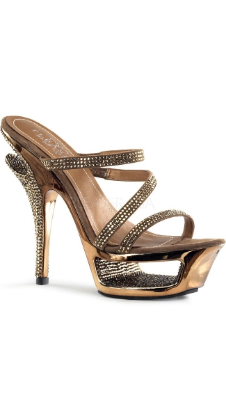 5 1/2 Inch Heel, 1 3/4 Inch Cut-out Platform Slide
