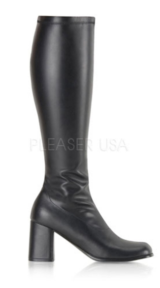"3"" Block Heel St Gogo Boots, W/ Side Zip"