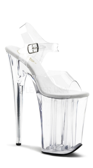 9 Inch Heel, 5 1/4 Inch Pf Ankle Strap Sandal