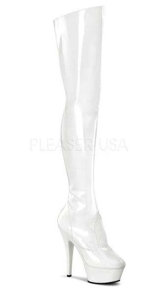 6 Inch Stiletto Heel Platform Thigh Boot