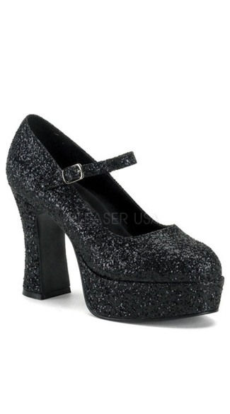 Glitter Mary Jane Platform Shoe, Glitter Platforms