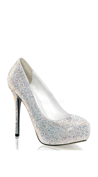 5 Inch Heel, 1 Inch Concealed Pf Iridescent Rs-covered  Pump