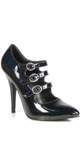 5 Inch Tri-strap Mary Jane Style Pump