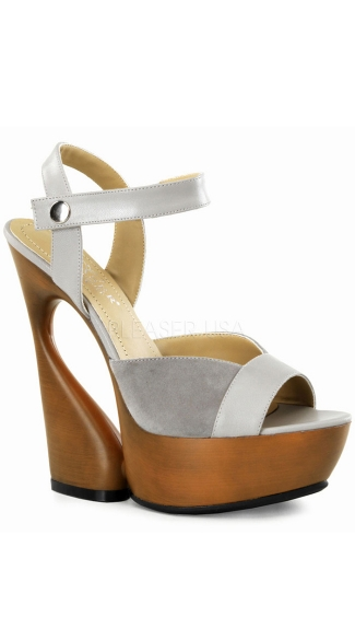 6 Inch Sculptured Heel, 1 3/4 Inch Pf