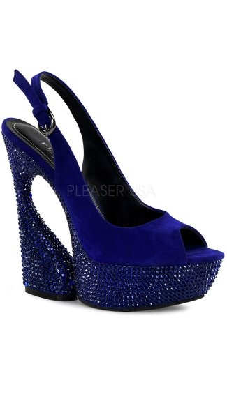6 Inch Sculptured Heel Sandal with Studs